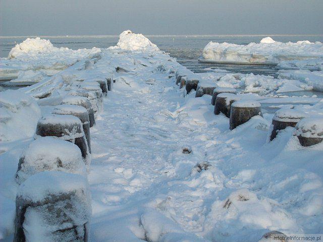 Falochron zimą z-index: 0