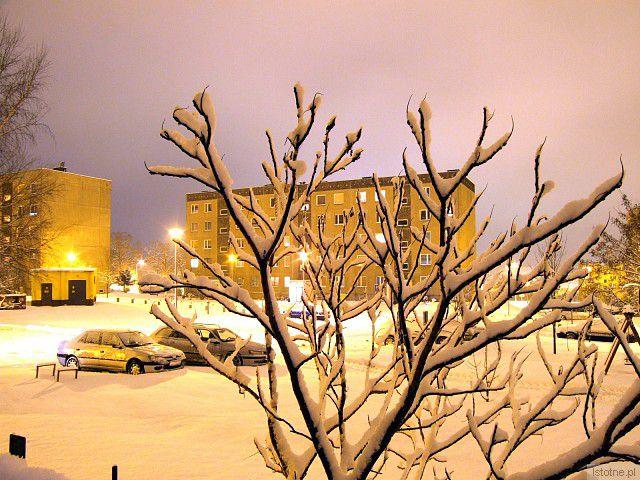 Zimowa noc (godzina 21:00) - Osiedle 40-lecia