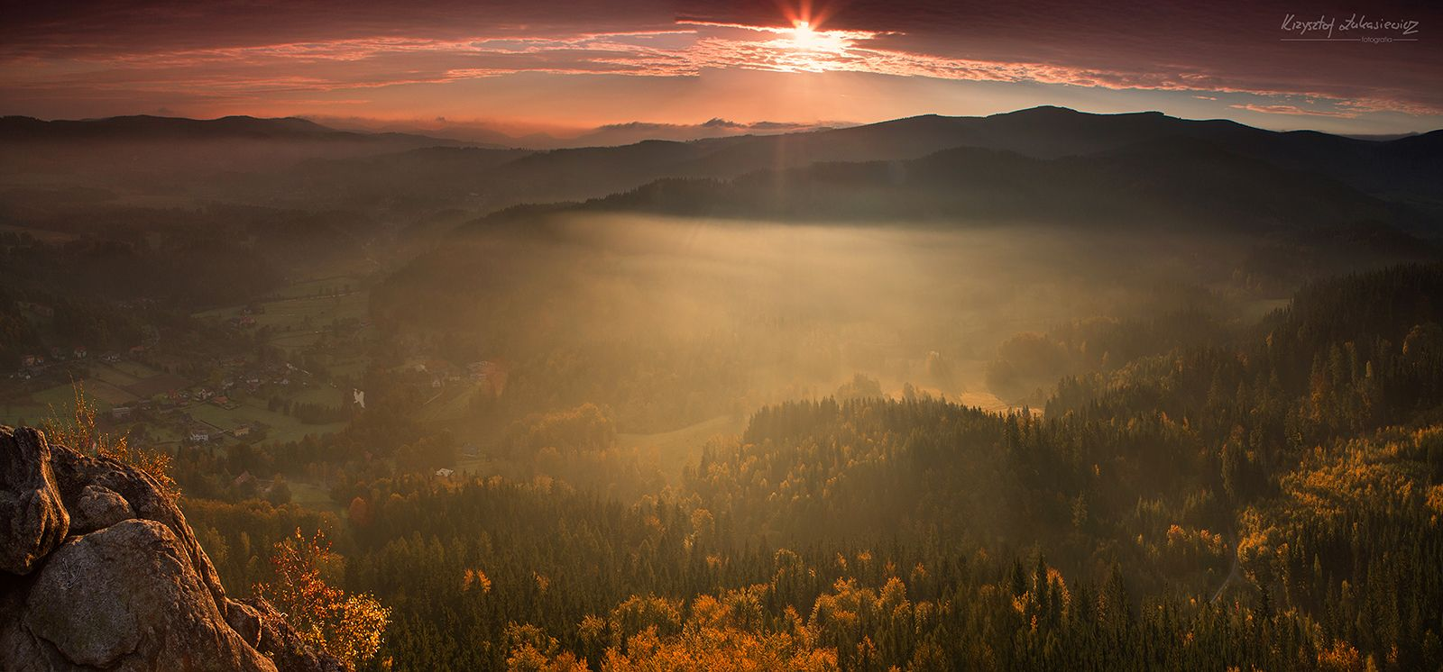 wschód słońca z Sokolika