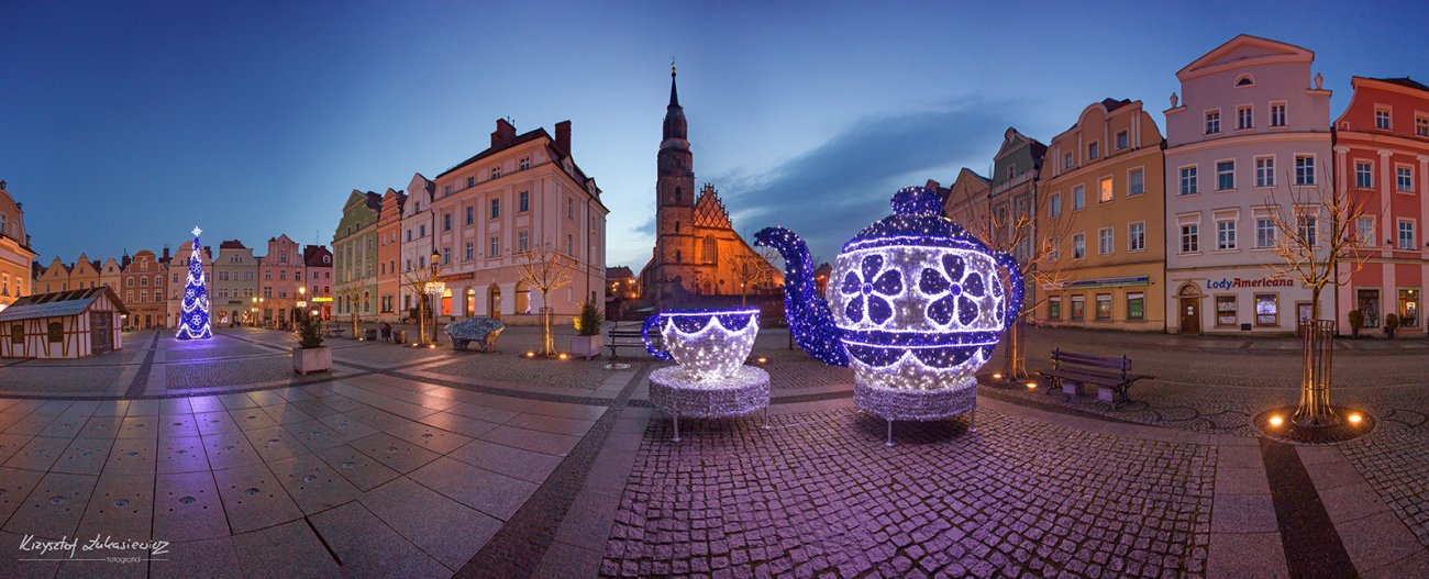 Rynek w Bolesławcu - w grudniu po po... południu :)