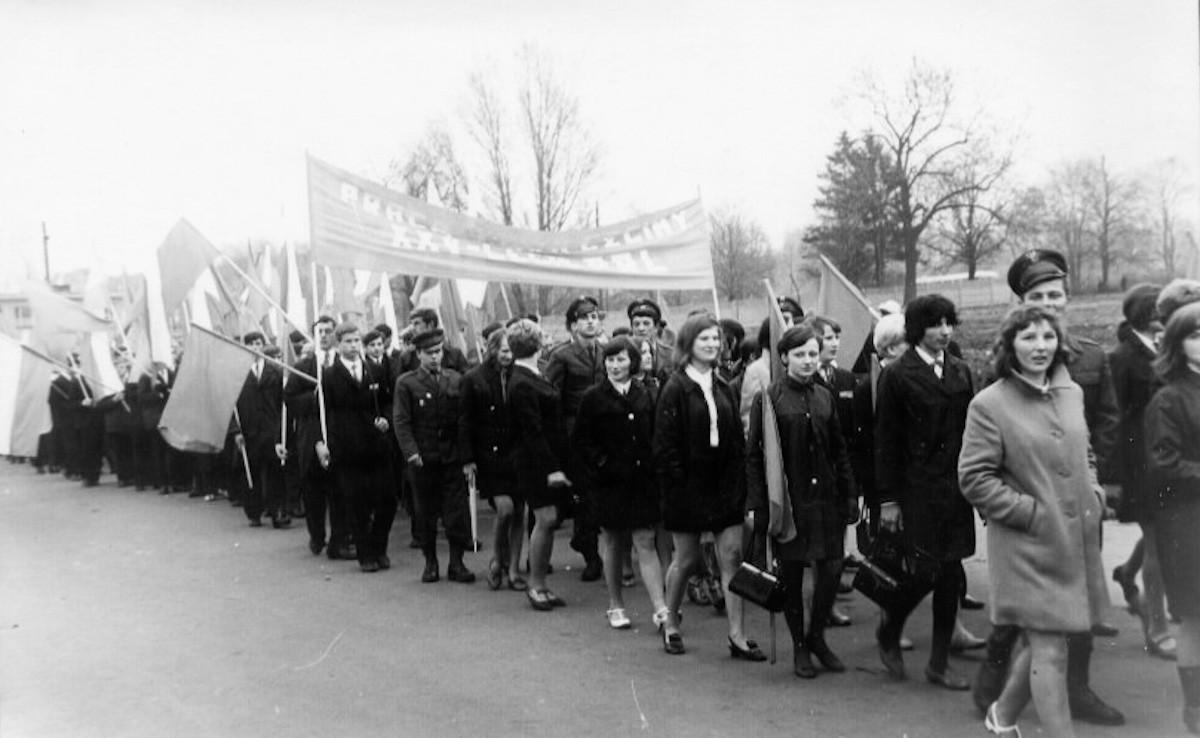 Pochód 1-maja na 25-lecie Polski Ludowej. 1969 r.