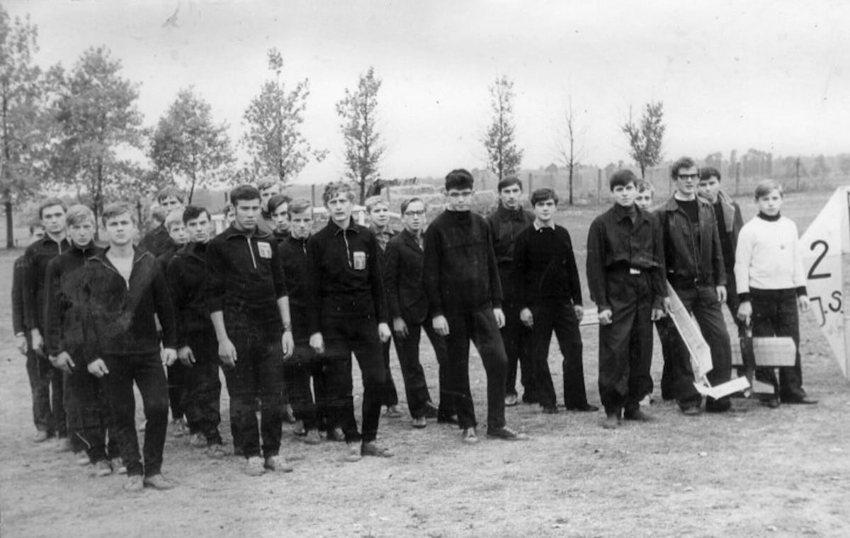 Młodzież ZSB na Spartakiadzie. (26.02.1973r)