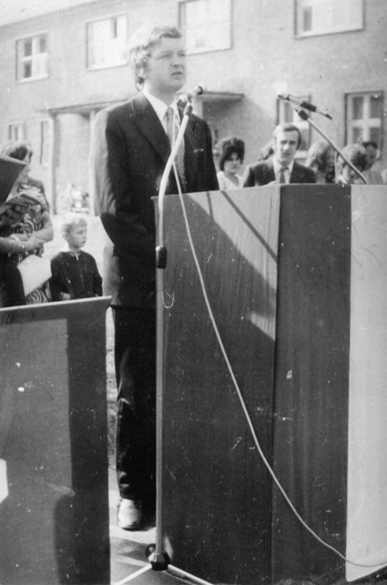 Przemówienie Dyr.BPB Jerzego Bartza na rozpoczęciu roku szkolnego 1973/74.