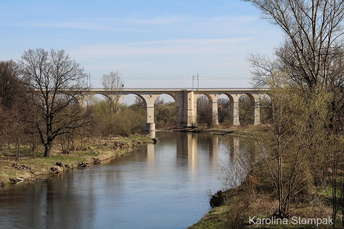 Smutny widok z mostu na rzekę Bóbr (po wycince drzew)