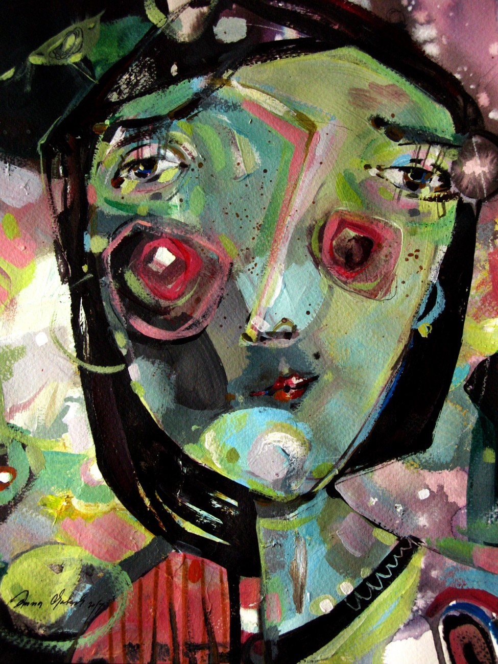 ilustracja, sztuka, malarstwo, portret z-index: 0