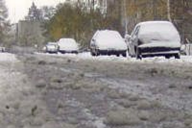 Ulice są w fatalnym stanie po opadach śniegu