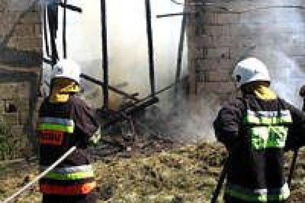 Spłonęła stodoła w Czernej