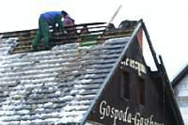 Spłonęła część dachu Gospody Kruszyna