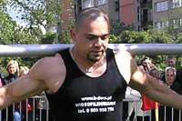 Zbigniew Klimek wygrał zawody siłaczy