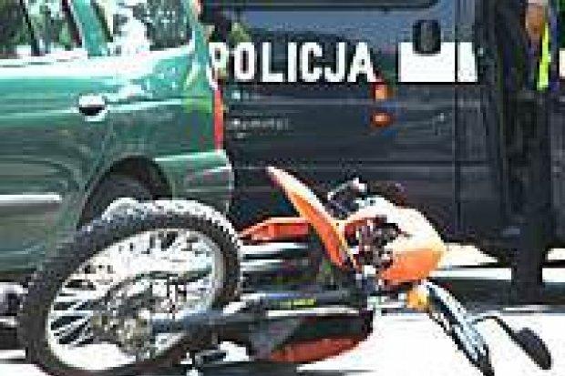 Motocyklista został ranny w wypadku