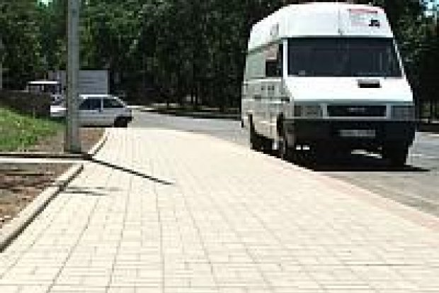 Na ulicach Bielskiej i Dolne Młyny są nowe chodniki