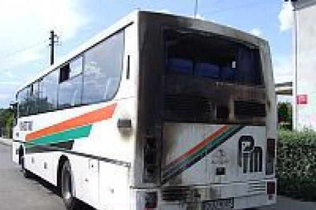 Autobus zapalił się na ulicy Kościuszki