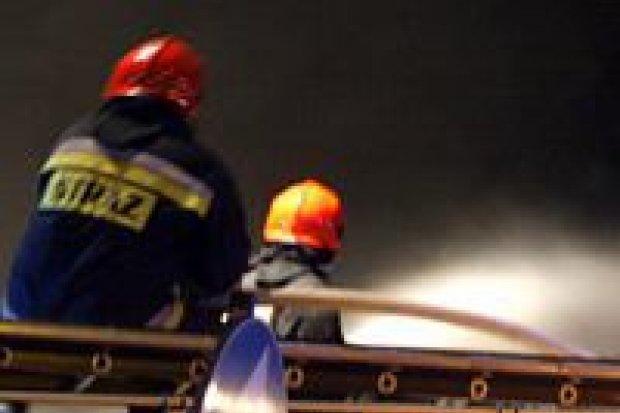 Płonął sklep Biedronka przy ulicy Chrobrego