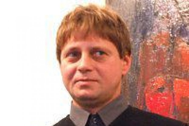 Jarosław Derwisz prezentuje swoje obrazy