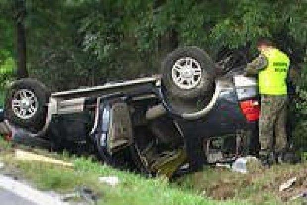 Cztery osoby ranne w wypadku pod Brzeźnikiem