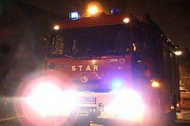 Pożar hali w Zebrzydowej