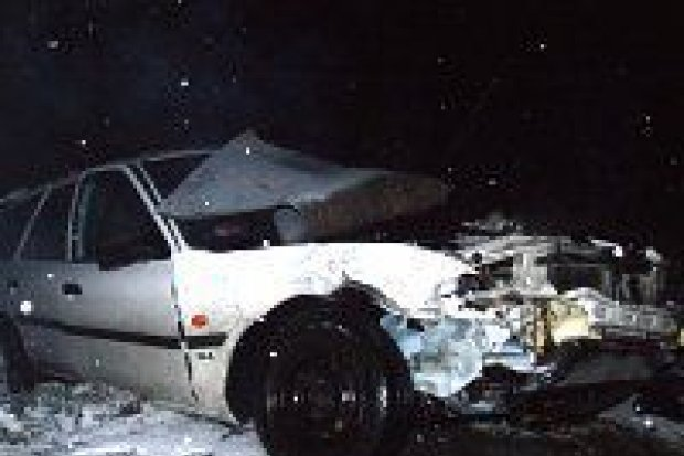 Cztery samochody zderzyły się koło Starej Olesznej