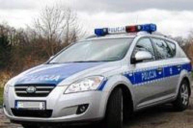 Policjanci rozdają maskotki najmłodszym