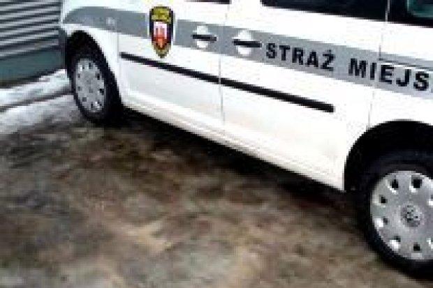 Straż miejska zaparkowała w miejscu dla niepełnosprawnych