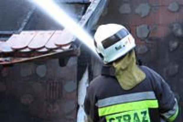 Spłonęła część domu przy ulicy Pod Lasem