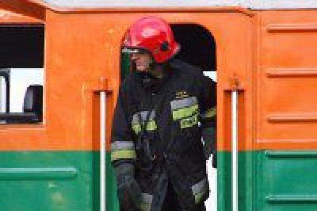 Pożar lokomotywy – droga do Kraśnika już przejezdna