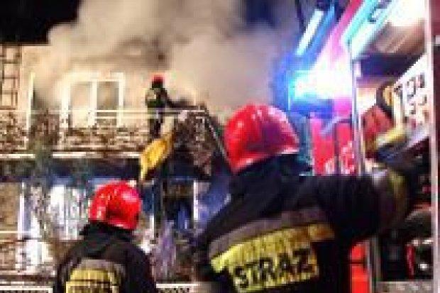 Pożar w budynku przy ulicy Kopernika