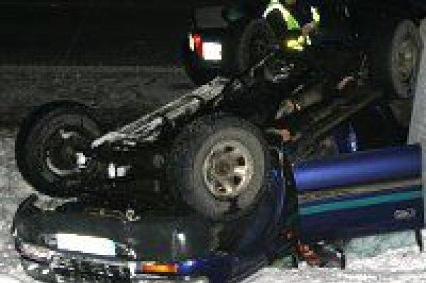 Toyota dachowała na autostradzie A4