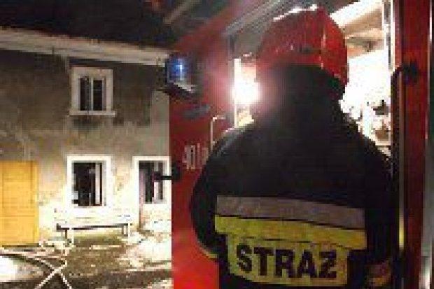 Pożar budynku w Kruszynie