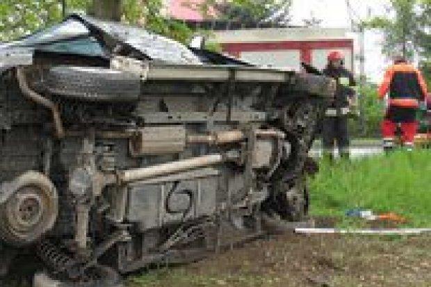 Wypadek w Zebrzydowej – dwie osoby ranne