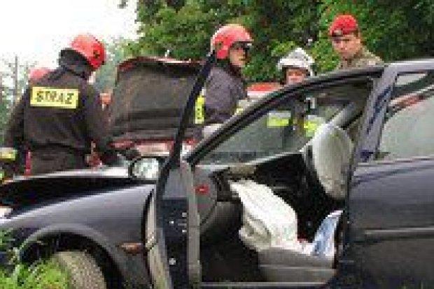 Wypadek w Raciborowicach Górnych: dwie osoby ranne