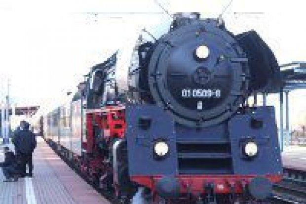 Zabytkowy pociąg przejechał przez Bolesławiec