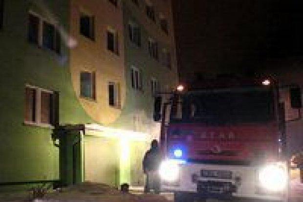 Pożar w bloku przy ul. Jana Pawła II