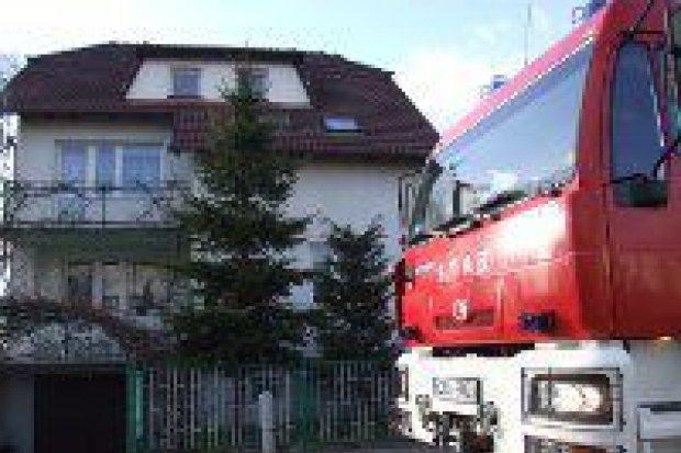 Pożar w budynku przy ulicy Miodowej