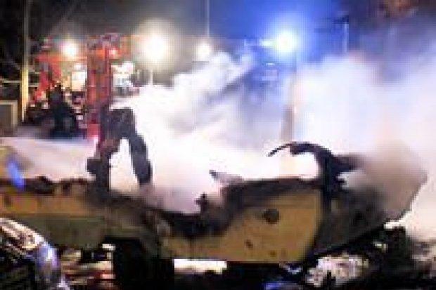 Podpalono przyczepę na ulicy Staroszkolnej