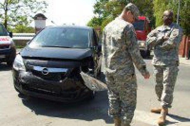 Dwie osoby ranne w kolizji na skrzyżowaniu Piastów i Spokojnej