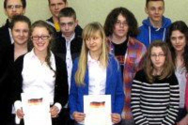 Laureaci konkursu języka niemieckiego nagrodzeni