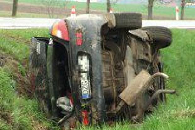 Wypadek pod Brzeźnikiem, jedna osoba ranna