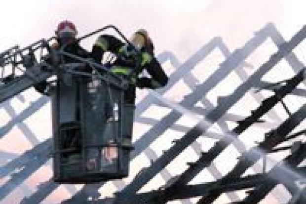 Pożar rudery w Tomaszowie Bolesławieckim