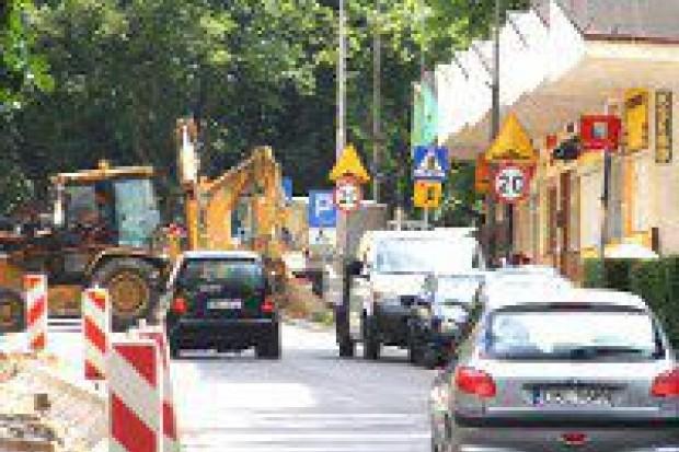 Plac budowy na ulicy Tyrankiewiczów
