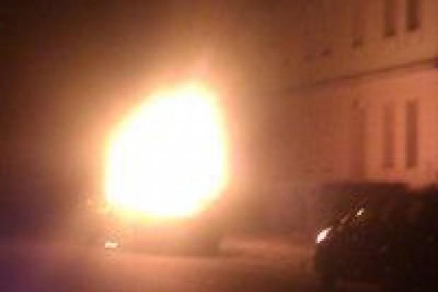 Spłonęło auto na ul. Gdańskiej