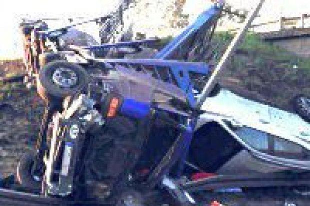 9 rozbitych samochodów na A4, 45-letni Litwin trafił do szpitala