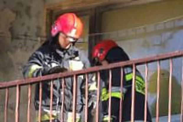 Pożar w bloku na Starzyńskiego