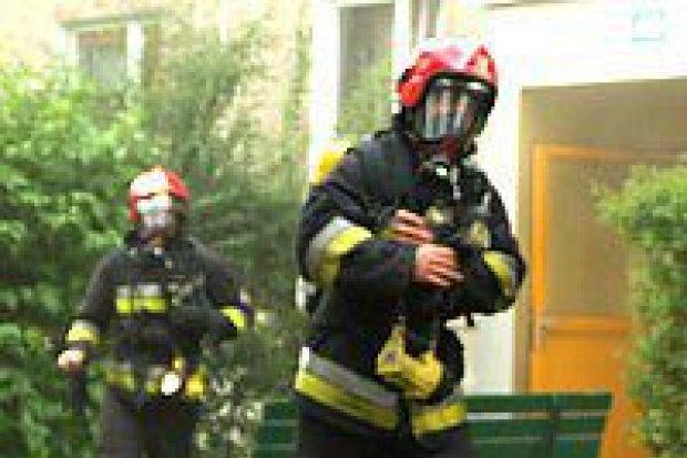 Wybuch i pożar na Starzyńskiego