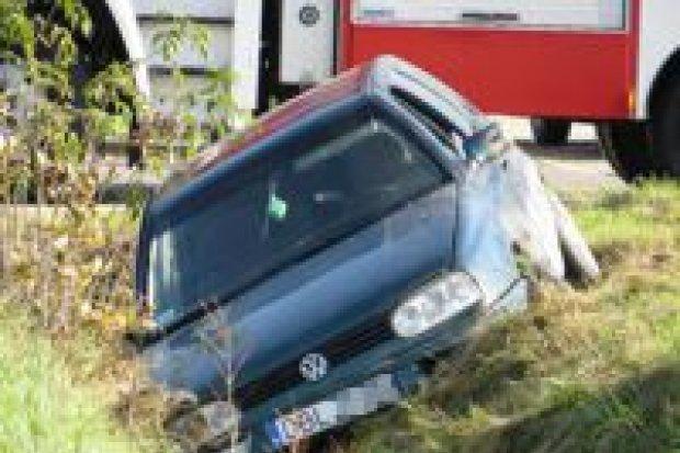 Zderzenie samochodów w Kruszynie