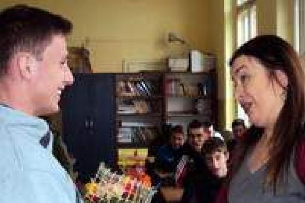 Grażyna Hanaf w Zespole Szkół Elektronicznych