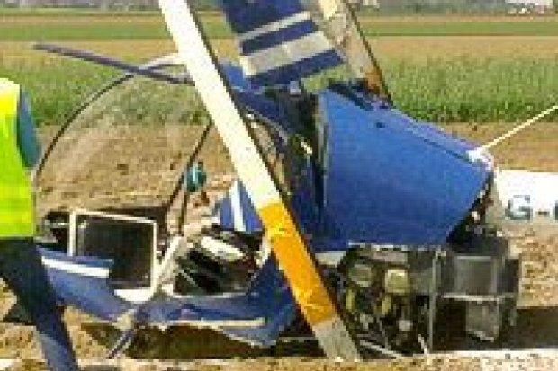 Wstępne ustalenia ws. wypadku śmigłowca: pilot bez licencji