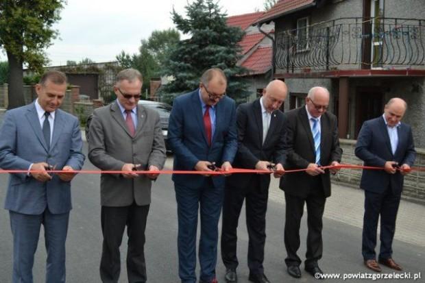 Otwarcie wyremontowanej drogi powiatowej Zgorzelec – Mała Wieś Dolna