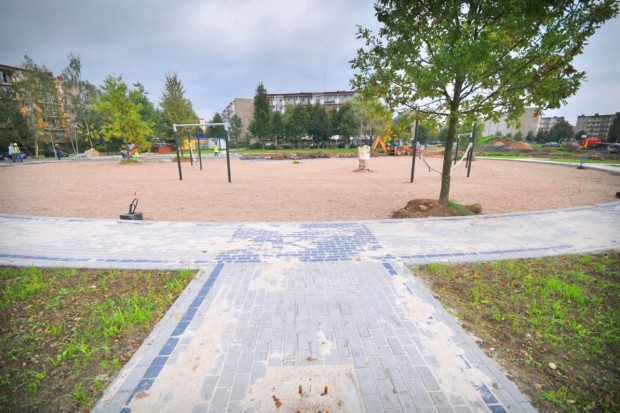Plac rekreacji na osiedlu Zabobrze III
