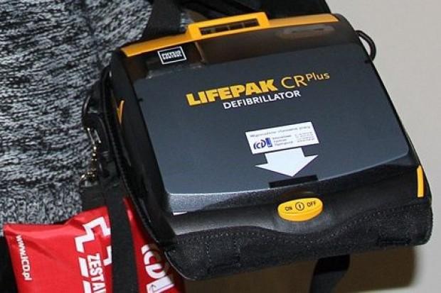Defibrylator w legnickim ratuszu