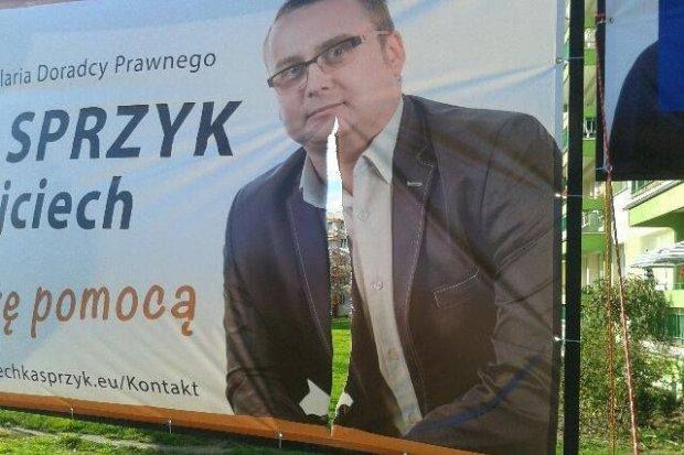 1000 zł nagrody za wskazanie wandala